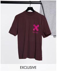Collusion Коричневая Футболка С Логотипом Unisex-коричневый