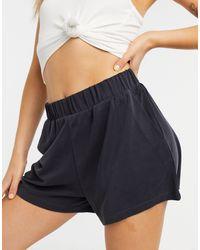 Monki Alma Floaty Jersey Shorts - Green