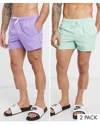 ASOS 2 Pack Swim Shorts - Multicolour