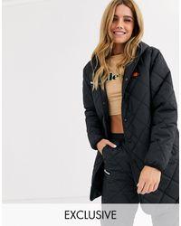 Ellesse Longline Coat - Black