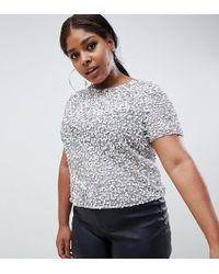 1f58e5a04d94 ASOS - Asos Design Tall T-shirt With Sequin Embellishment - Lyst