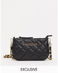 Valentino Ocarina - Exclusives - Doorgestikte Crossbody Tas - Zwart