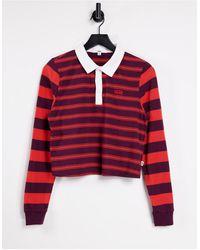 Vans - Stripe Block Long Sleeve Polo Top - Lyst