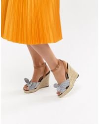 Oasis - Striped Heeled Wedges - Lyst