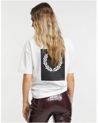 Fred Perry Laurel Wreath Print T Shirt - White