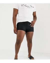 ASOS - X Laquan Smith Plus Swimming Trunks With Mesh Overlay - Lyst