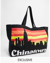Chinatown Market Skyline Tote Bag - Black