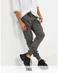 Another Influence Tall Oversized joggers With Cargo Pockets - Grey