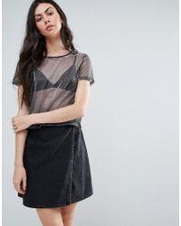 TWIIN - Metallic Woven Mesh T-shirt - Lyst