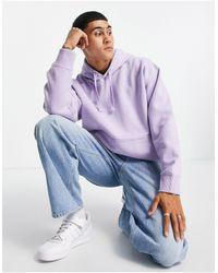 TOPMAN Co-ord Oversized Hoodie - Purple