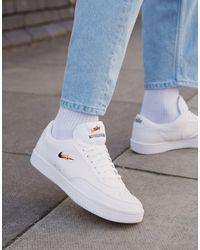 Nike Белые Кожаные Кроссовки Court Vintage-белый