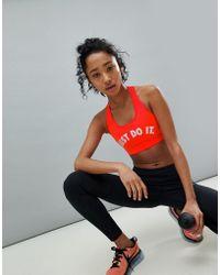 Nike - Just Do It Bra In Red - Lyst