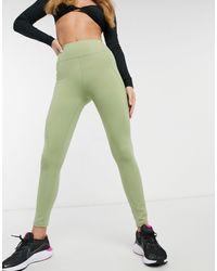 In The Style Legging deportivos color oliva con paneles de - Verde