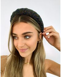 Pieces Embellished Headband - Black