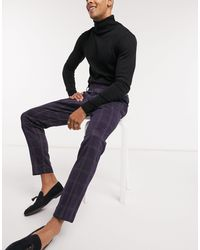 Only & Sons Suit Pant With Elasticated Waist - Blue