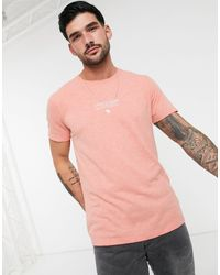 Abercrombie & Fitch Washed Logo T-shirt - Pink