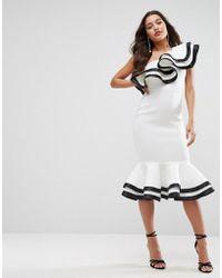 ASOS - Red Carpet Scuba Midi Dress - Lyst