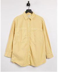 Monki Желтая, Окрашенная Натуральными Красителями Oversized-рубашка Из Органического Хлопка Allison-желтый