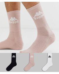 Kappa Authentic Welt Crew Socks 3 Pack - Multicolour