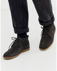 River Island Gray Suede Chukka Boots