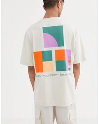 ASOS Losvallend T-shirt Met Fotoprint - Wit