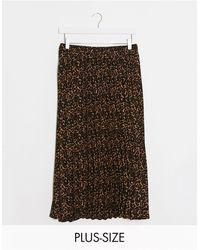 Simply Be Pleated Midi Skirt - Multicolour