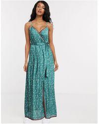 Billabong Soft Sea's Beach Wrap Maxi Dress - Green