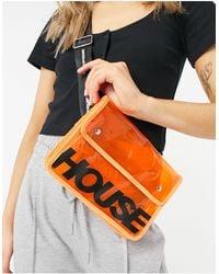 House of Holland Bandolera naranja transparente