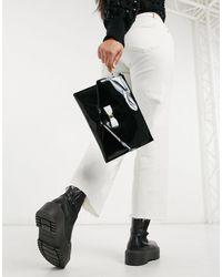 Ted Baker Harliee - Sac pochette enveloppe à nœud - Noir