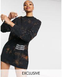 Collusion - – Langärmliges T-Shirt-Kleid mit Batikmuster - Lyst