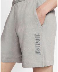 Nike Just Do It Washed Shorts - Grey