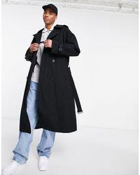 ASOS Trench-coat oversize - Noir