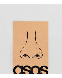 ASOS - Design Sterling Silver Gold Plated Nose Ring - Lyst