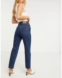 ONLY Fine – Straight Jeans mit hohem Bund - Blau