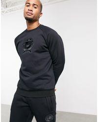 adidas Originals Co-ord Sweatshirt With Collegiate Crest - Black