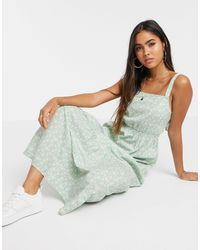 Vero Moda Tiered Floral Maxi Dress With Tie Back Detail - Multicolour