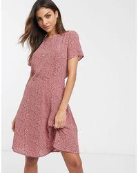 Vila Ditsy Floral Mini Dress-multi - Pink