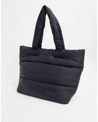Pull&Bear Maxi borsa trapuntata nera - Nero