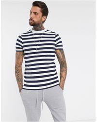 ASOS Camiseta ajustada a rayas - Azul