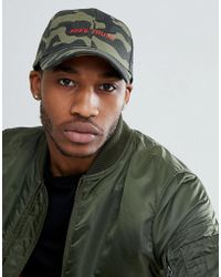 ASOS - Baseball Cap In Camo With Embroidery Detail - Lyst