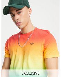 Hollister Футболка С Радужным Эффектом Омбре И Капсульным Логотипом Pride-разноцветный - Оранжевый