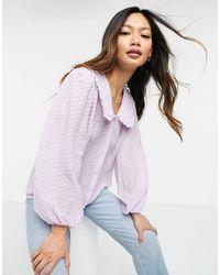 Y.A.S Сиреневая Блузка С Воротником .-фиолетовый Цвет - Пурпурный