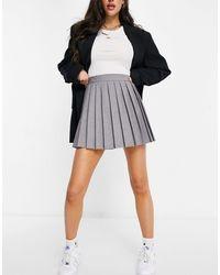 ASOS Pleated Tennis Skirt - Grey