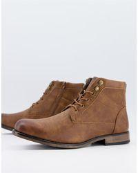 New Look Коричневые Массивные Ботинки -коричневый