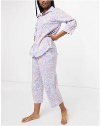 Lauren by Ralph Lauren Pyjama Met Inkeping - Meerkleurig