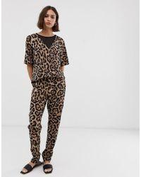 B.Young Leopard Print Jumpsuit - Multicolour