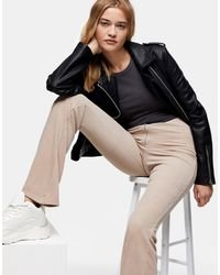 TOPSHOP Corduroy Ribbed Flare Trousers - Multicolour