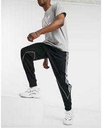 adidas Originals Черные Трикотажные Джоггеры С 3 Полосками -черный