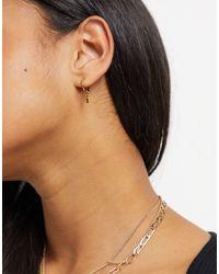 Whistles Star Detail Hoop Earrings - Metallic