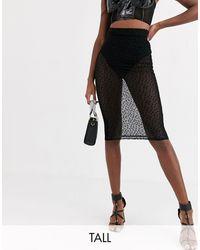 Missguided Dobby Mesh Midi Skirt - Black